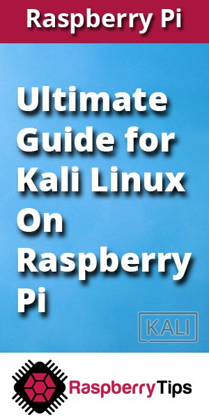 Discover Kali Linux on Raspberry Pi, the 15 first steps to use Kali Linux the right way!