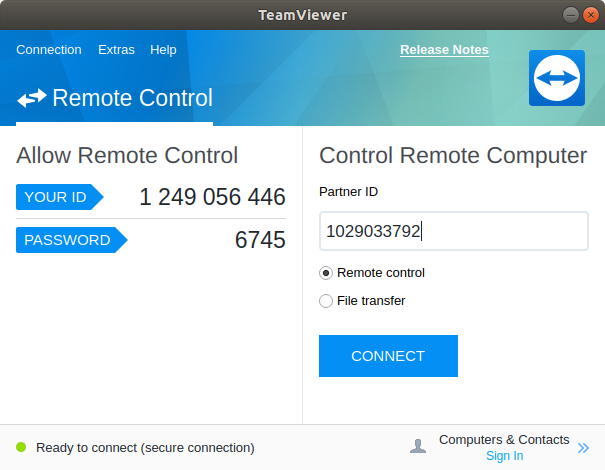 teamviewer remote desktop connect