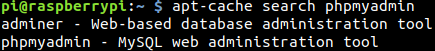 apt cache search