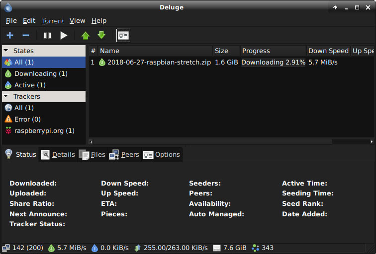 deluge torrent client