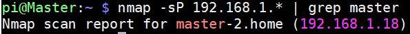 nmap scanning cluster ip