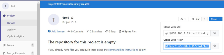 gitlab project ready