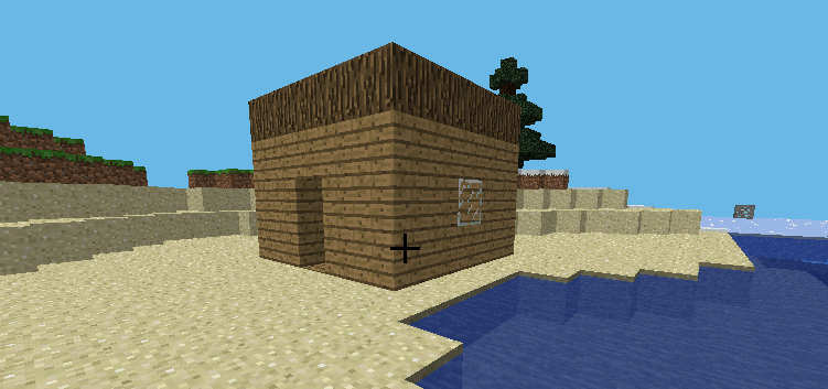 minecraft house in python