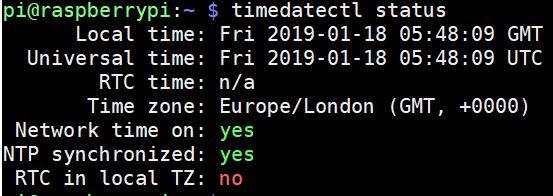 timedatectl status