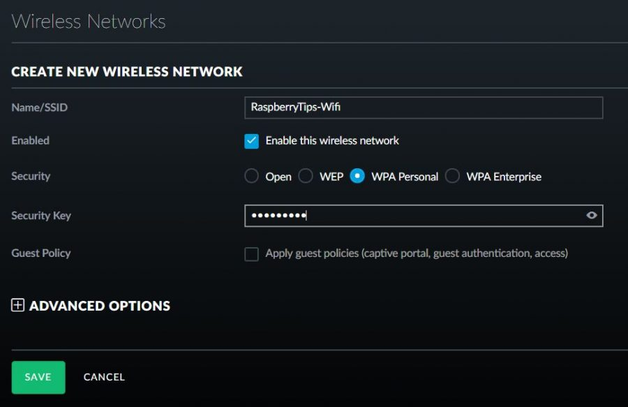 new wireless network creation