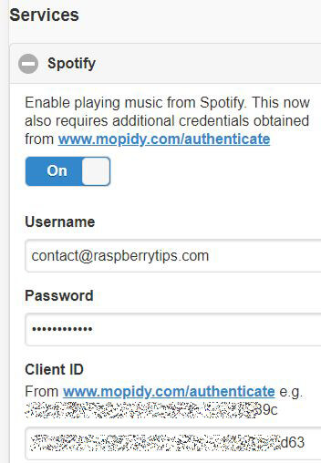 spotify settings musicbox