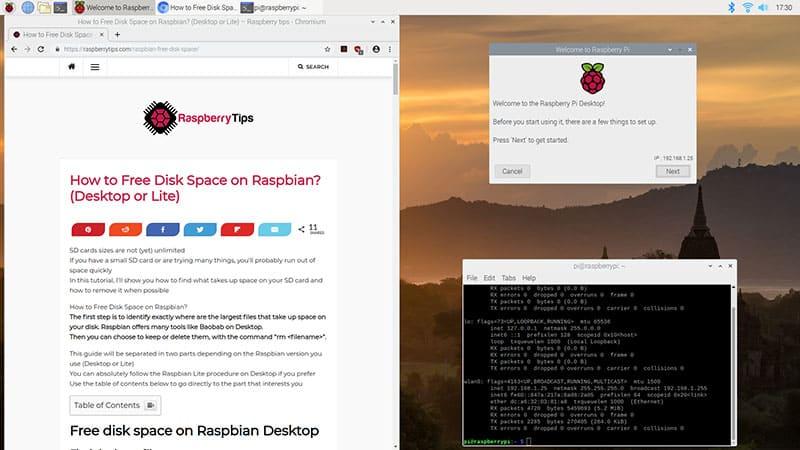 raspbian buster desktop