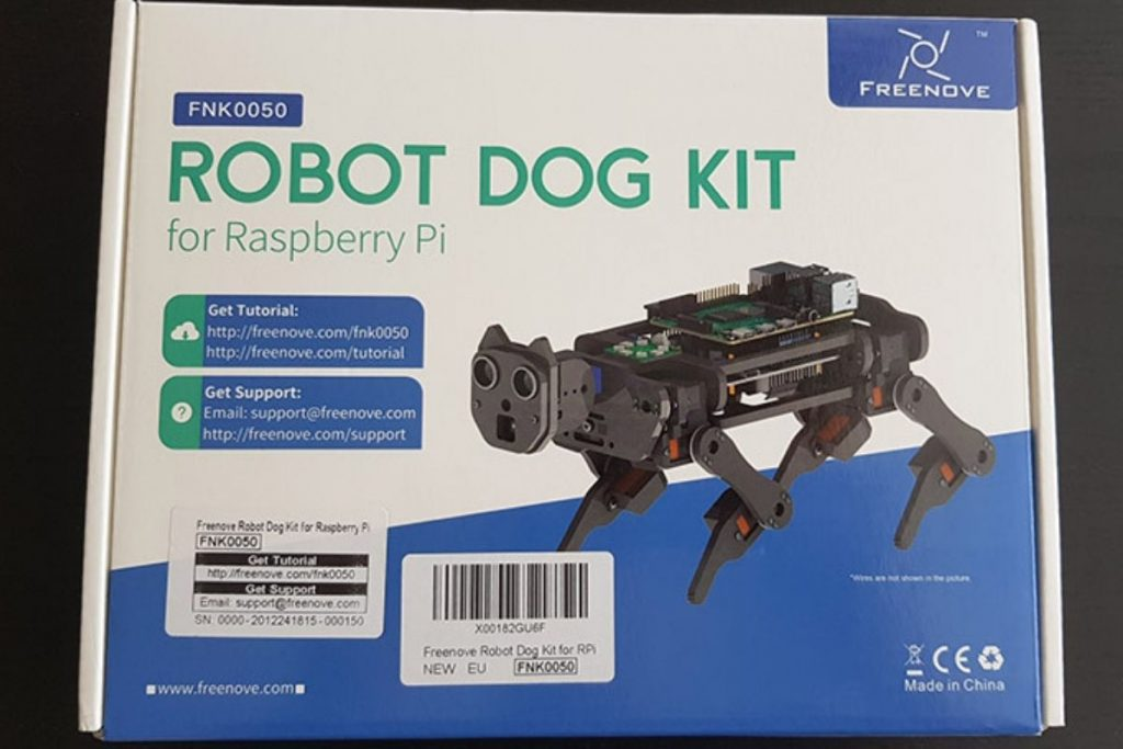 my review of the robot dog kit from freenove